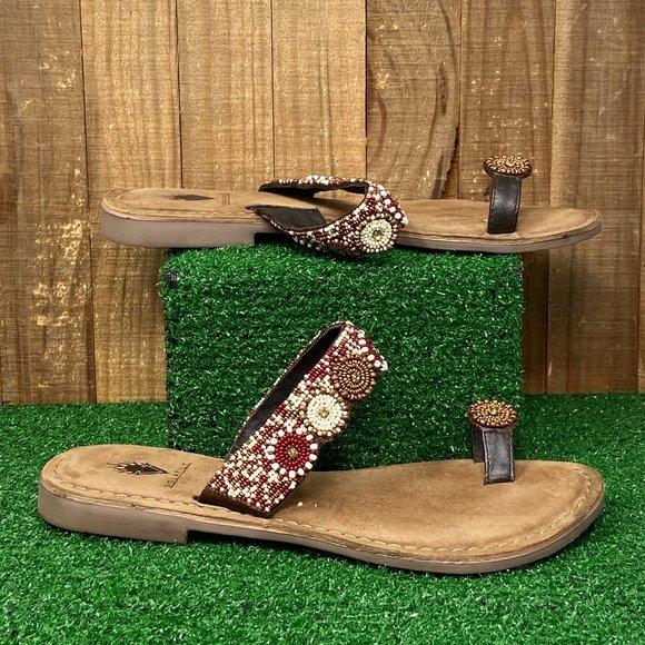 Volatile Beaded sandal SZ 6